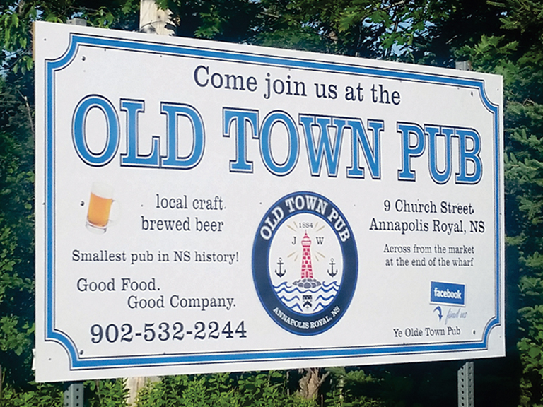 Signage for Old Town Pub