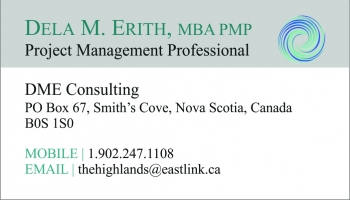 DME Consulting business card and logo