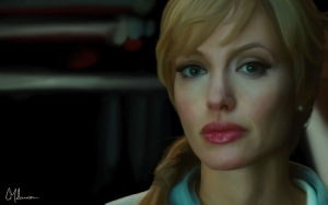 Angelina Jolie in the movie Salt
