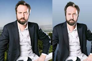 Tom Green - The picture I based my painting off of and the painting on the right