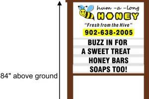 Hum-a-long Honey sign mock up