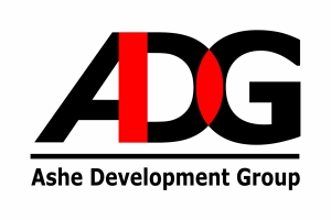 This logo is one option made for Ashe Development Group