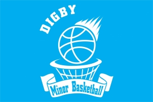 This logo was made for the Digby Minor Basketball team jerseys.