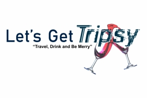 Lets Get Tripsy logo made for an online travel and drink blog site