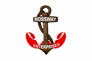 Rossway Enterprises logo was made from the ideas of the manager and brought to life by me. He wanted an anchor with the lobster claws on the bottom.