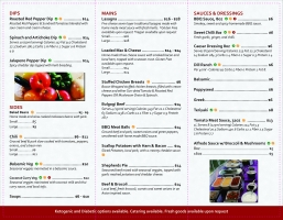 Purdy's Catering brochures inside pages mock up