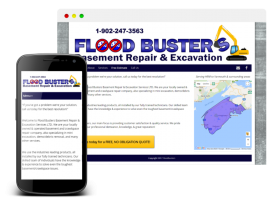 I designed a website with WordPress to the specifications of the client. In addition to contact forms, information on services, there is a quote request form and an interactive map displaying Flood Buster's service areas.